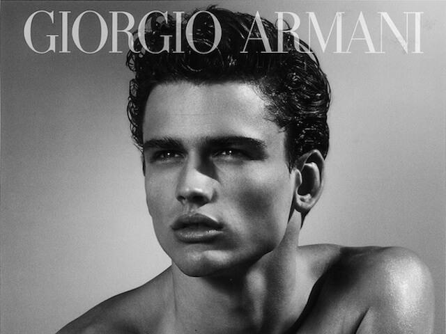 om Armani parfym, modell för Armani